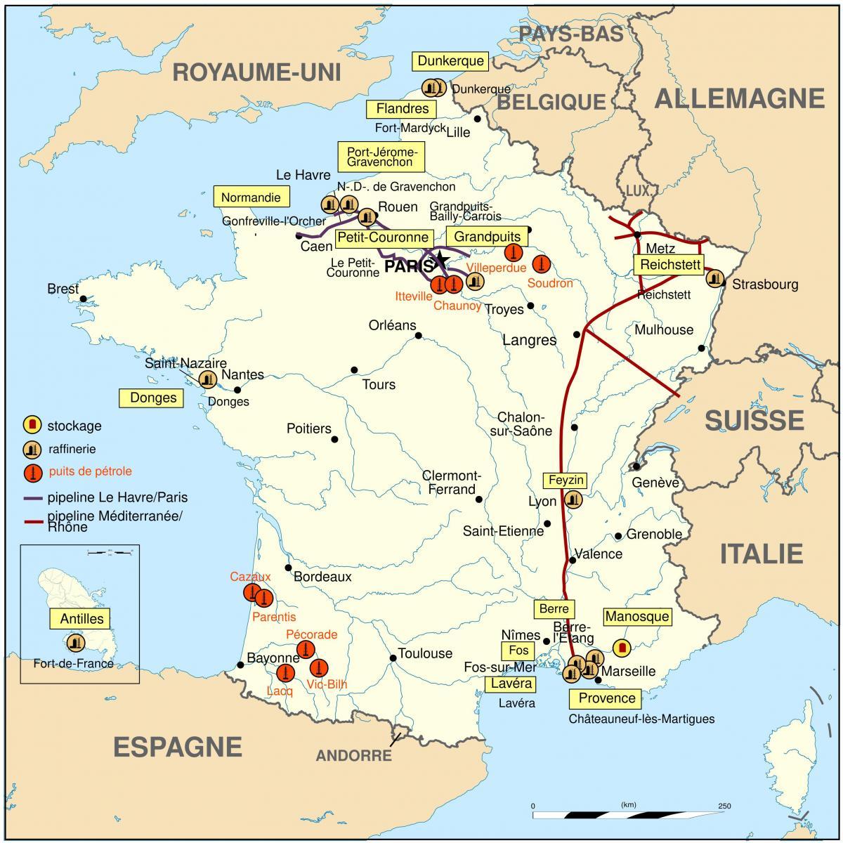 bensin karta Frankrike bensin karta   Karta över Frankrike bensin (Västra  bensin karta