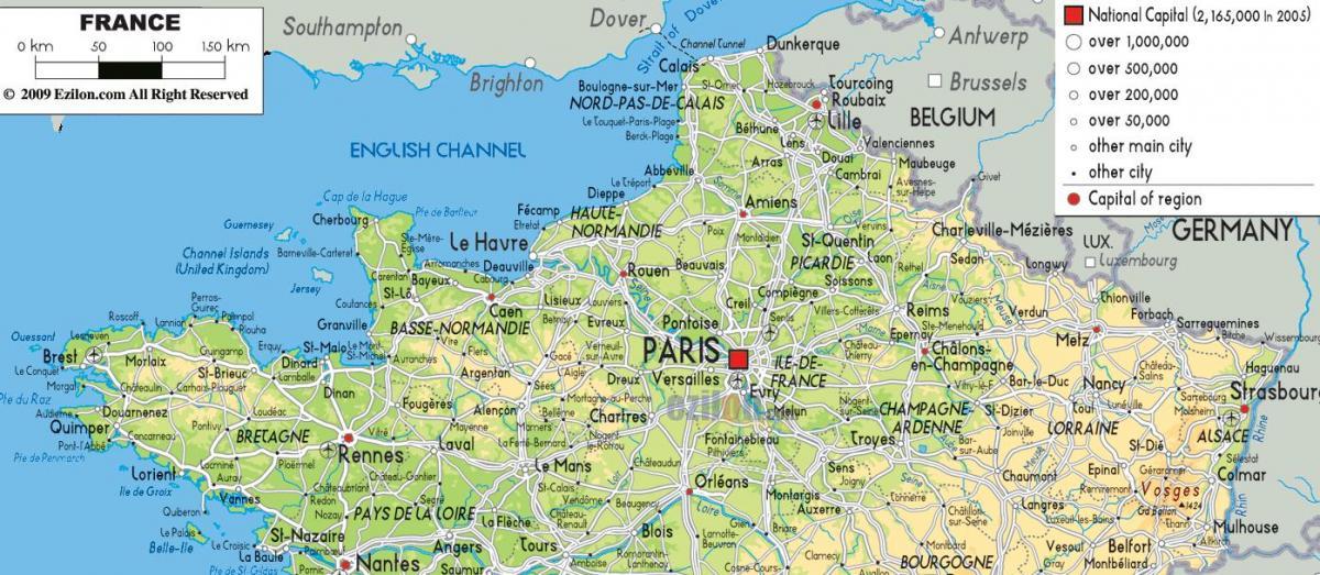 karta norra frankrike Karta över norra Frankrike   Karta över norra Frankrike med städer  karta norra frankrike